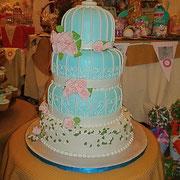 Pastel fondant boda