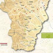 Weinanbauflächenkarte Weststeiermark - ÖWM/Photograph