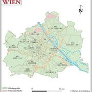 Weinanbauflächenkarte Wien - ÖWM/Photograph