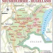 Weinanbauflächenkarte Neusiedlersee Hügelland - ÖWM/Photograph