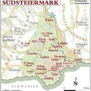 Weinanbauflächenkarte Südsteiermark - ÖWM/Photograph