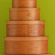 Shaker oval boxes aus Kirschbaum