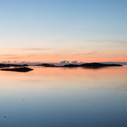 Panorama zonsondergang bij Bleik