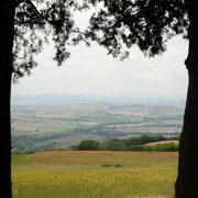 Landschap bij Bagno Vignoni