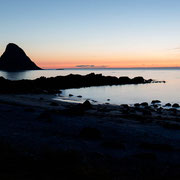 Zonsondergang bij Bleiksøya