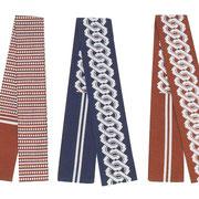 【半天帯】 ■素 材:綿100% ■サイズ:長さ1.6m/巾8cm ①のみ巾6cm