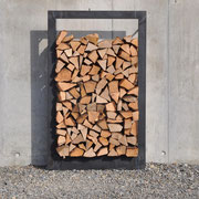 Stahlrahmen für Cheminéeholz