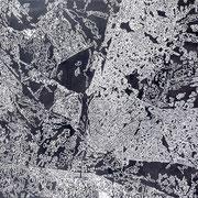 Arborea-02  - Acrilico y esmalye sobre tela 130cm X 70cm