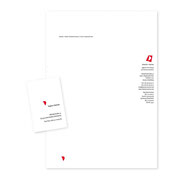 Neue Geschäftsausstattung · Brief · Visitenkarte