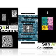 San Art · Flyer-Entwicklung