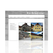 Internetauftritt Onepage Umsetzung · www.baurenovatio.de · CMS · Wordpress