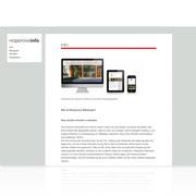 Webauftritt Responsive-Info · www.responsive-info.de · Dynamische Webseite, für PC, Tablet, Smartphone · Content-Management-System · Typo3