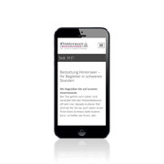 Homepage Hinterseer Bestattung · www.hinterseer-bestattung.de · Anpassung für Smartphone
