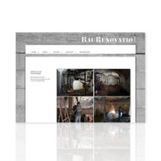 Internetauftritt Onepage Solution · www.baurenovatio.de · CMS · Wordpress