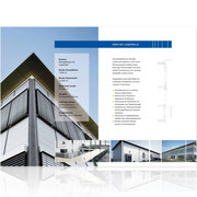 Corporate-Design · Informationsbroschüre Neubau