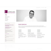 Webauftritt Rechtsanwalt Thomas Auer · www.anwalt-auer.de · Internetauftritt Responsive Webdesign · Dynamische Webseite, für PC, Tablet, Smartphone · Content-Management-System · Typo3