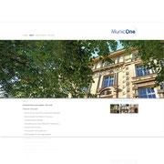 MunicOne · www.municone.de · Internetauftritt Responsive Webdesign · Dynamische Webseite, für PC, Tablet, Smartphone · Content-Management-System · Typo3