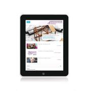 Serviceagentur Demografischer Wandel · www.serviceagentur-demografie.de · Internetauftritt Responsive Webdesign · Dynamische Anpassung für Tablet-Ansicht