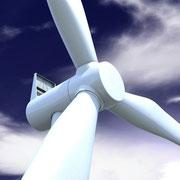 Detailansicht Windkraftanlage