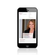 Internetauftritt B&F Steuerberatung · Responsive-Webdesign, Smartphone-Ansicht · www.bfberatung.de