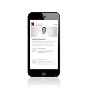 Webauftritt Rechtsanwalt Thomas Auer · Responsive-Webdesign, Smartphone-Ansicht · www.anwalt-auer.de