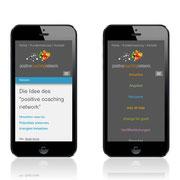 Webauftritt positive coaching network · www.positive-coaching.net · Internetauftritt Responsive Webdesign · Dynamische Anpassung für Smartphone