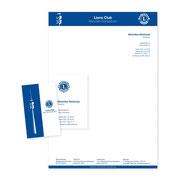 Brief- + Visitenkartengestaltung · Lions Club München-Olympiaturm