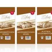 Verpackungsdesign für Mikes Premium (Aldi Süd)