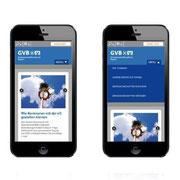 Genossenschaftsverband Bayern · www.gv-bayern.de · Webauftritt Responsive Webdesign · Dynamische Anpassung für Smartphone-Ansichten