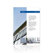 Corporate-Design · Informationsbroschüre Neubau