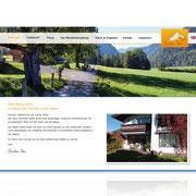 Internetauftritt Onepage Solution · www.ferienwohnung-bayrischzell.com · Ferienwohnungen · CMS · Wordpress
