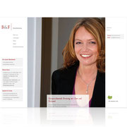 B&F Steuerberatung · www.bfberatung.de · Internetauftritt Responsive Webdesign · Dynamische Webseite, für PC, Tablet, Smartphone · Content-Management-System