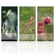 Gestaltungskonzept für Informationsfaltblätter · Titelseiten