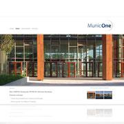 MunicOne · www.municone.de · Internetauftritt Responsive Webdesign · Dynamische Homepage, für PC, Tablet, Smartphone · CMS · Typo3