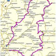 Routen-Verlauf