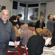 Vincent au fond, Amerigo, Norman, Alain, Michel, Agnès, Anne)Marie
