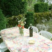 Le jardin du gîte La Chevalière