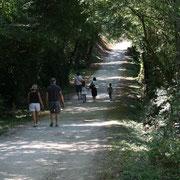 Un chemin d'accès permet aux visiteurs d'accéder au village préféré des Français