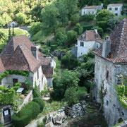 vue sur les maisons de Saint Cirq