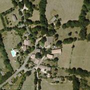 Vue aérienne du hameau du mas d'aspech dans le Quercy lot 46
