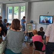 Die beiden russischen Künstler auf dem Bildschirm