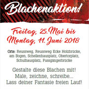 Flyer Blachenaktion