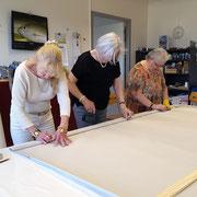 Herstellung der Blachen im Atelier