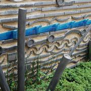 創作瓦の塀。