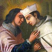 """Gottfried kommt ins Grübeln über Sinn und Ziel seines Lebens als """"Großer"""" des Reiches. Im Herbst 1121 trifft er dann auf den hl. Norbert von Xanten, der durch seine Persönlichkeit und seine neue Ordensidee großen Eindruck auf den jungen Grafen macht."""