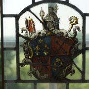 1681 mußte der Abt von Steinfeld, der hauptsächlich als Visitator für Cappenberg herangezogen wurde, sogar militärischen Schutz beanspruchen, um seiner Aufgabe nachzugehen (im Bild ein Steinfelder Wappenfenster im Museum Schloß Cappenberg).