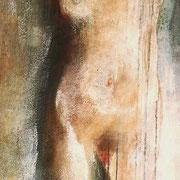 Un' altra da me acrilico e olio su tela cm 50 x 60