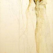 Martina acrilico e matite su tela cm 60 x 140