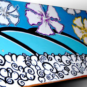 New! Solar Waves - Mixed Media on Wood, Skateboard - Commission available