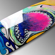 Smile You SOB! Shark Longboard